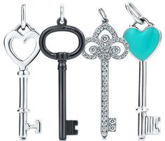 Tiffany & Co. keys (I don't have one but i DO love Tiffany & Co. Verde Tiffany, Tiffany & Co., Tiffany Outlet, Old Keys, Key To My Heart, Key Pendant, Diamond Pendant, Tiffany Jewelry, Tiffany Rings