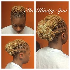 Blondes definitely have more fun! Loc Style Call or Book a… Dreadlock Styles, Dreads Styles, Hair Health And Beauty, Hair Beauty, Love Hair, My Hair, Pretty Dreads, Dreadlock Accessories, Faux Locks
