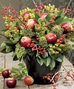A FALL floral bouquet of Apples :: Owocowy bukiet : Weranda Country