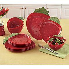 12-Piece Strawberry Dinnerware Set from Seventh Avenue ®