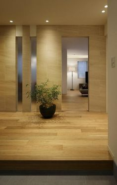 厳選素材のやさしい住まいの部屋 玄関ホール2 Interior Architecture, Interior Design, Style Japonais, Tv Unit Design, Entrance Ways, Tropical Houses, Japanese Design, Beautiful World, Hardwood Floors