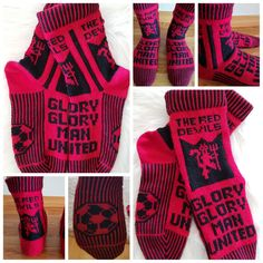 Manchester United Sokker Leeds United, Manchester United, Knitting Machine, Knitting Socks, The Unit, Knit Socks, Man United