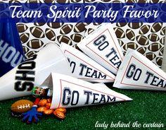 Lady Behind The Curtain - Team Spirit Party Favor Cheer Team Gifts, Cheer Party, Sports Party, Sports Theme Classroom, Football Baby Shower, Team Theme, Spirit Gifts, Ball Birthday, Cheer Dance