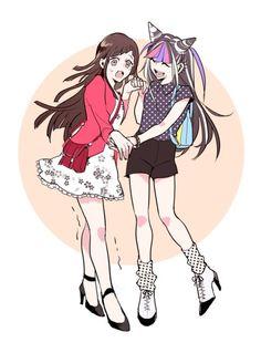 Mikan Tsumiki and Ibuki Mioda.
