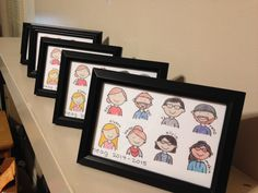 "Group Portrait Print - 4"" x 6"" - Custom Cartoon Illustration by wordcraftstudios on Etsy"