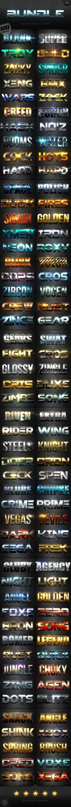 Extra Light Text Effects Big Bundle #photoshop Download here: http://graphicriver.net/item/extra-light-text-effects-big-bundle/15657370?ref=ksioks