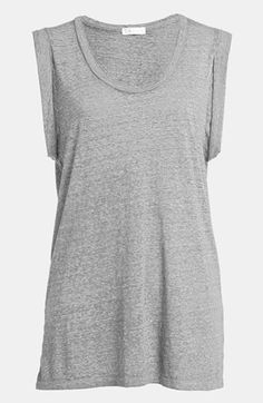 Leith Roll Sleeve Muscle Tee available at #Nordstrom $34