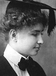 Helen Keller as a young women