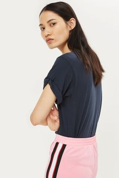 Roll Sleeve T-Shirt - New In Fashion - New In - Topshop