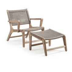 'La Forma' lounge chair with foot rest Debenhams