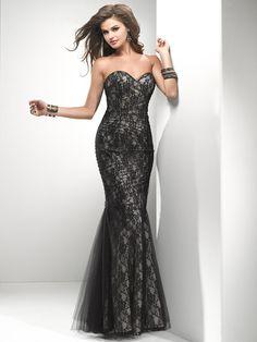Black  amp  Champagne Lace  amp  Tulle Strapless Lace Up Prom Dress - Unique  Vintage 0e3a81b50