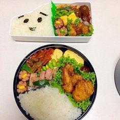 子供のリクエストで、しんかんくん(絵本)の顔のお弁当にしました - 12件のもぐもぐ - 旦那のお弁当と子供の遠足のお弁当 by maki