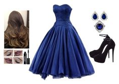 """""""Dark Blue"""" by teodoramaria98 ❤ liked on Polyvore featuring Giuseppe Zanotti and Edward Bess"""