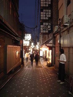 Pontocho street, Kyoto in Japan
