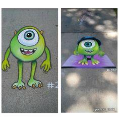 Chalk Drawings Sidewalk Discover diy Todays Deals: New Deals. Every Day. Chalk Drawings, Art Drawings, Chalk Design, Sidewalk Chalk Art, Chalkboard Art, Disney Drawings, Disney Art, Amazing Art, Art For Kids