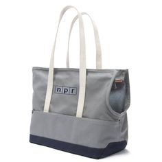 [Description] Carry your dog around in NPR style. This utilitarian tote is made with 18oz double layer of cotton duck canvas and embroidered with the NPR log...