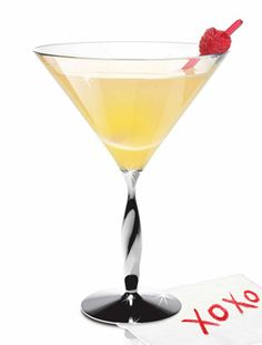 Fabulous Flirt    (1 1/4 oz Skyy Vodka  1 oz Fresh Orange Juice  1/2 oz Simple Syrup  1 Lemon Squeeze  5 Raspberries)