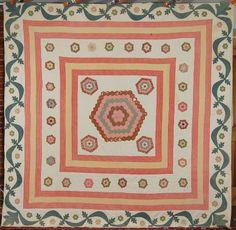 hexagon basket quilts | ... flower garden quilts folk art quilts log cabin quilts small pieces