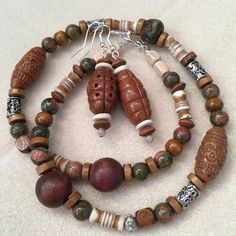 A personal favourite from my Etsy shop https://www.etsy.com/au/listing/502682271/tibetan-bead-necklace-and-wooden-bead