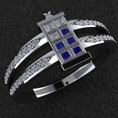 Tardis RIng by dtekdesigns on Etsy