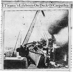 Titanic's lifeboats aboard the Carpathia