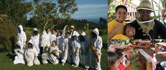 Honeybee Education Program, in Hawaii they have recognized that in order to protect and preserve the rapidly dwindling bee population in our country, it is necessary to get children on board and teach them to love and respect these all-important pollinators... seems like the kids are having a great time learning, too!