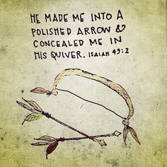 I may have a quiver full of kids, but how delightful to know that I am a child (an arrow) in the LORD'S quiver!