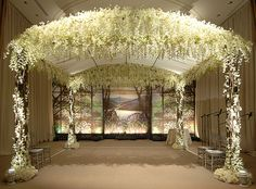Floral Gazebo for Romantic White Wedding | Inspirations