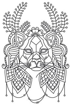 Fresh, creative designs and tutorials for machine and hand embroidery. Animal Coloring Pages, Coloring Book Pages, Coloring Sheets, Embroidery Art, Embroidery Stitches, Embroidery Patterns, Doodles Zentangles, Motifs Animal, Urban Threads