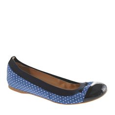 Mila dot-print ballet flats - ballets - Women's shoes - J.Crew.   If I could pin all of their ballet flats, I would :)