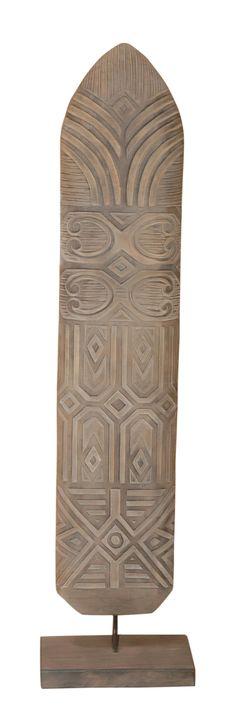 Shield Asmat Standing Decoration Sculpture