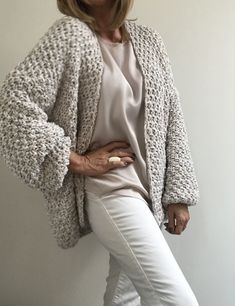 PureMe is a fashionlabel Premium handmade knitwear Designed by me, made for you. Crochet Shrug Pattern, Crochet Shirt, Crochet Jacket, Chunky Cardigan, Knit Cardigan, Winter Sweaters, Knitting Designs, Sweater Fashion, Slow Fashion