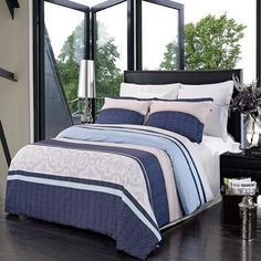 Park Ave Luxury 3PC Printed Duvet cover set 100 Microfiber FullQueen * Check this awesome product by going to the link at the image.