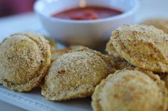 """The Art of Comfort Baking: Oven Toasted """"Fried"""" Ravioli"""