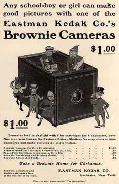 Vintage Kodak Brownie Ad #kodak #brownie #filmcamera