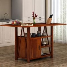 Kitchen Furniture: Buy Kitchen Furniture Online Upto OFF Kitchen Island Table, Modern Kitchen Island, Buy Kitchen, Wooden Kitchen, Wooden Street, Online Furniture, Kitchen Furniture, Desk, Home Decor