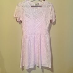 Pretty Pink asos Dress Adorable, lined cotton and polyester dress.  worn once. ASOS Dresses Mini