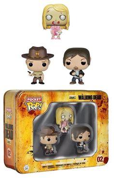 The Walking Dead Pocket POP! Tins Figuren Dreierpack 4 cm The Walking Dead POP Figuren - Hadesflamme - Merchandise - Onlineshop für alles was das (Fan) Herz begehrt!