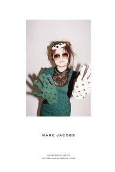 Marc Jacobs + Helena Bonham Carter [Fall 2011].  Love the eccentricity.