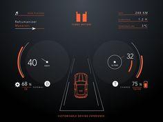 Gui Interface, User Interface Design, App Ui Design, Ui Ux Design, Graphic Design, Mobile Ux, Kit Ui, Digital Dashboard, Dashboard Car
