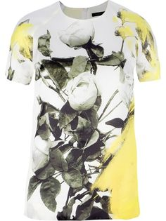 CHRISTOPHER KANE Printed Top//@ he does florals so well
