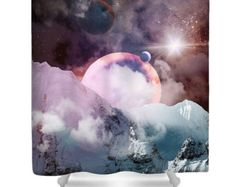 Brokeh Lights Shower Curtain by FolkandFunky on Etsy