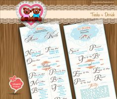 Custom Wedding Program Rustic chic style Creative classic Typography card clipart - printable typographic file - by TeeshaDerrick at Etsy.com