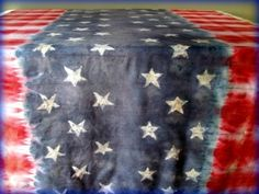 Fourth Of July Tie Dyed Table Cloth · How To Make A Tablecloth ...