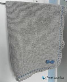 Couverture bébé tricoté main en laine : Puériculture par tricot-boutchou