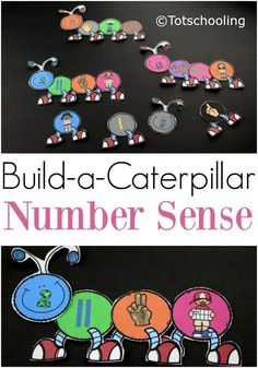FREE printable Caterpillar themed math activity for pre-k and kindergarten kids to practice number sense and counting with a Spring theme. Fun build-a-caterpillar activity for matching numbers and quantities. Preschool Curriculum, Kindergarten Math, Teaching Math, Math Classroom, Learning Activities, Kids Learning, Homeschool, Math Stations, Math Centers
