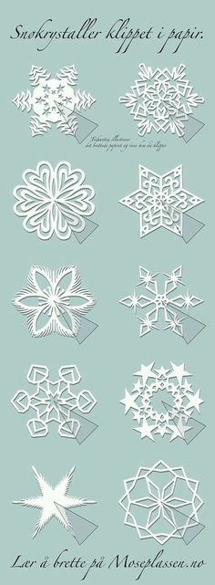 simple paper snowflake instructions