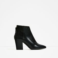 Image 2 of EMBOSSED LEATHER HIGH HEEL ANKLE BOOTS from Zara