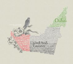 UAE Typography Map by *WoW-Sky on deviantART