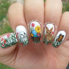 Best Easter Nail Art for 2019 includes bright bunny nails, cute egg nails, polka dot nails are some of the most talked about Nail Art Designs for Easter. Easter Nail Designs, Dot Nail Designs, Easter Nail Art, Nail Swag, Spring Nail Art, Spring Nails, Bunny Nails, Cute Easter Bunny, Seasonal Nails